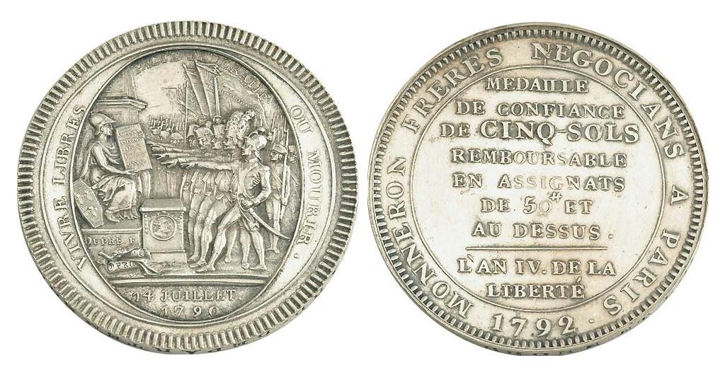 médaille ou monnaie de confiance du mal a savoir ( vrai ou copie) MonneronArgt